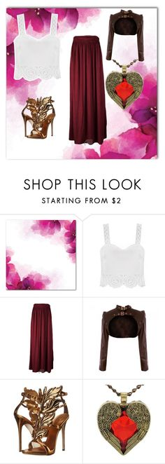 """""""English rose"""" by frizzynorse ❤ liked on Polyvore featuring Giuseppe Zanotti and Carlos by Carlos Santana"""