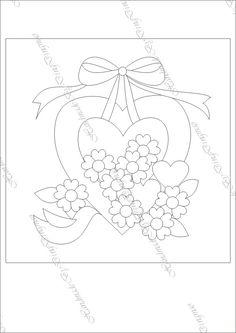 酸奶_新浪博客 Cute Embroidery Patterns, Embroidery Hearts, Hand Embroidery Designs, Vintage Embroidery, Applique Designs, Quilt Block Patterns, Quilt Blocks, Cross Stitch Patterns, Japanese Patchwork