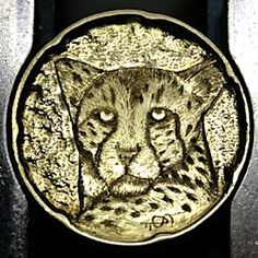 STEINAR FOSBACK - NO DATE BUFFALO NICKEL Hobo Nickel, Buffalo, Carving, Animals, Animales, Animaux, Wood Carvings, Sculptures, Animal