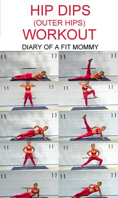 Hip Dips Workout: Exercises to Build Your Hip Muscles - Diary of a Fit Mommy women fitness workouts Fitness Workouts, Fitness Motivation, Fitness Hacks, Health Fitness, Motivation Quotes, Fitness Goals, Men's Fitness, Body Workouts, Muscle Fitness
