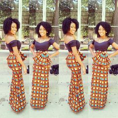 Check Out This Ankara Style - DeZango Fashion Zone african print African Attire, African Wear, African Dress, African Style, African Clothes, Nigerian Clothing, African Theme, African Women, African Inspired Fashion
