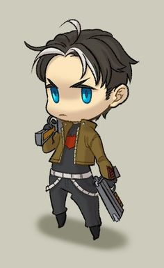 AAAH! My baby is chibi-fied and he's adorable!! <3 <3 <3