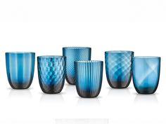 Nason Moretti İdra Su Bardağı Seti 6'lı Mavi