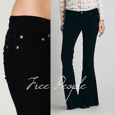 "Free People Black Bootcut Cords Free People Black Bootcut Cords, so soft! Minor scuffing at heel, see close up photo, otherwise EUC. Size 29, inseam 32"", rise 8.5"", cuff 9.5"". Free People Pants Boot Cut & Flare"