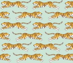 tiger pattern wrapping paper