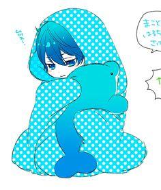 Drawn by u_yucca ... Free! - Iwatobi Swim Club, haruka nanase, haru nanase, haru, nanase, haruka, plush dolphin, free!, iwatobi