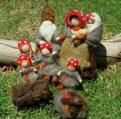 Hey, I found this really awesome Etsy listing at https://www.etsy.com/listing/75874499/needle-felted-forest-family-elsa-beskow