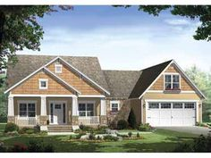 Floor Plans AFLFPW25079 - 1 Story Craftsman Home with 3 Bedrooms, 2 Bathrooms and 1,800 total Square Feet... LOVE!!!!!!