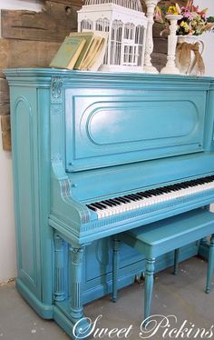 @Christine Strong here is what to do with your piano. . .it could be a total accent furniture. . . who cares if it sounds good so long as it looks good! :)