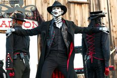(left to right) Hatchworth, The Spine, and Rabbit from Steam Powered Giraffe.