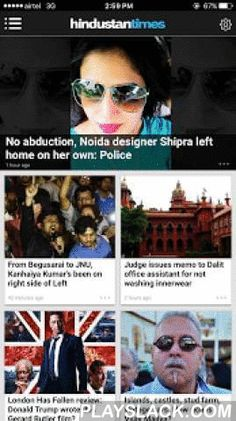 Hindustan Times  Android App - playslack.com ,  Hindustan Times, the flagship news brand of the HT Media Ltd group, brings you the latest App to deliver the best news content and experience. Download the Hindustan Times - News app on your Android to have the latest news updates from across the globe.The official Hindustan Times News app bring you breaking news, the latest headlines on India, Cricket, Sports, Bollywood, photo galleries and videos from around the world.The app provides you the…