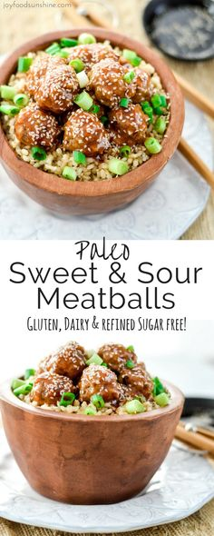 Paleo Sweet and Sour Meatballs! The perfect quick & easy weeknight recipe that everyone in your family will love! Gluten-free, dairy-free, and refined sugar free!