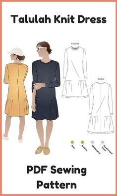 You will love this easy to wear pull-on knit dress sewing pattern. With its long sleeves, the side gathers elevate this style from a simple shift dress to a super fashionable garment. This is a very easy sewing project – you could have a new dress in an afternoon. affiliate link