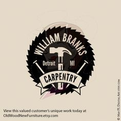 Totally loved creating this logo as a custom job for Bill. Go view this valued customer's unique carpentry work today at www.OldWoodNewFurniture.etsy.com #customwork #Logo #unique#carpenterlogo #logodesign #graphics #business #businessowner #businesslogo #monogram #carpentry #carpenter