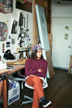 A peek inside artist Jason Woodside's studio.
