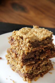 My Happy Place: oatmeal chocolate chunk bars