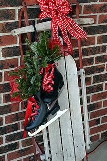 Skate and Sled Combo --- love the ribbon!