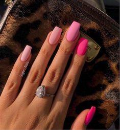 Nail Art Design 40 Stylish Fun Design - Page 2 of 2 - Inspired Beauty . - Nail Art Design 40 Stylish Fun Design – Page 2 of 2 – Inspired Beauty – Nail Art Design 21 St - Square Acrylic Nails, Pink Acrylic Nails, Pastel Nails, Pink Nail Art, Pink Summer Nails, Summer Nails Almond, Bright Summer Acrylic Nails, Matte Pink Nails, Simple Acrylic Nails