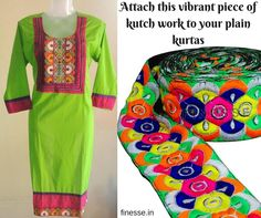 Enhance the look of your plain kurtas with Finesse Laces