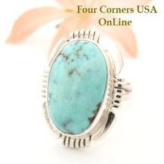 Four Corners USA Online - Size 7 1/4 Dry Creek Turquoise Ring Thomas Francisco American Indian Silver Jewelry NAR-1450, $161.00 (http://stores.fourcornersusaonline.com/size-7-1-4-dry-creek-turquoise-ring-thomas-francisco-american-indian-silver-jewelry-nar-1450/)