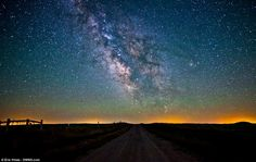 Wyoming Dirt Road Milky Way, by Eric Hines    5D Mark II / 24mm f/1.4L II / 24mm @ ISO 2500, f/2.0 / 25-Second Exposure
