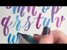Brush Lettering For Beginners - Watercolor Tutorial (Modern Calligraphy Style) Improve Handwriting, Handwriting Styles, Cursive Handwriting, Cool Lettering, Brush Lettering, Handwriting Analysis, Learning To Drive, Letter Form, Watercolour Tutorials