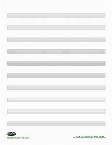 Printable Blank Personalized Piano And Or Vocals Sheet Music