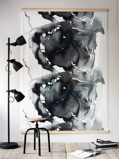 Stretch out this abstract fabric over two wooden panels to create a major wow-factor within your living space.