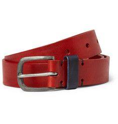 Oliver SpencerContrast-Panel Leather Belt