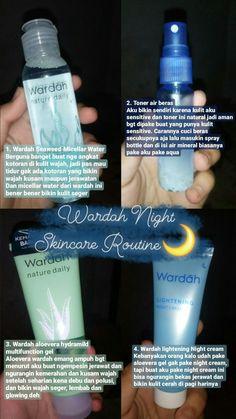 Wardah night skincare routine for teens Beauty Care, Beauty Skin, Facial Tips, Korean Skincare Routine, Night Routine, Healthy Skin Care, Face Skin Care, Skin Makeup, Micellar Water