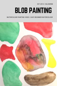 Easy DIY Blob Watercolour Abstract Video Painting either to decorate your wall or for fun easy projects for the kids. Watercolor Art Face, Watercolor Art Landscape, Watercolor Art Lessons, Watercolor Art Paintings, Easy Watercolor, Abstract Watercolor, Graffiti, Art Videos For Kids, Kids Background