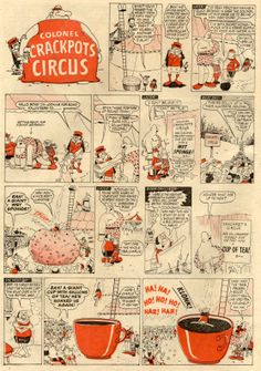 Colonel Crackpot's Circus - Malcolm Judge. 1962 Beano