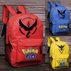Women's Men's Backpack Pokemon Gengar Backpack Cartoon Image Printing Backpack Mobile Game Backpack School Bags for Teenagers