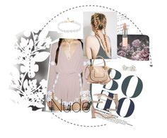 """""""nude+white"""" by jessicashanee1 ❤ liked on Polyvore featuring Élitis, The Nude Label, Carvela, Chloé, Bling Jewelry, Rimmel and nude"""