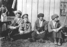 The Romanov Family in Captivity left to right: Olga, Alexei, Anastasia, and Tatiana, 1918.