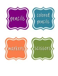 Simple Classroom Labels - Printable