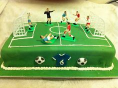 Football Cake - I made this for my son's 6th Birthday