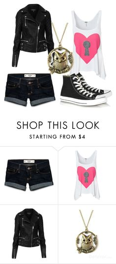 """""""Carter"""" by fensake ❤ liked on Polyvore featuring Abercrombie & Fitch, Topshop and Converse"""