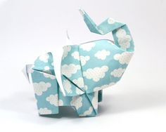 Origami Elephant by JinnilnTheLamp on Etsy