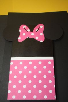 Mickey mouse / Minnie mouse party favor bags set of 8 by craftygio