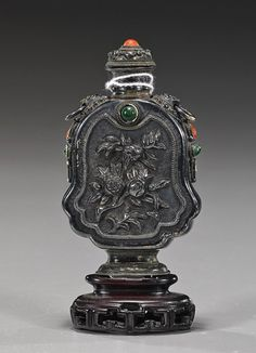 Antique Chinese Silver Snuff Bottle