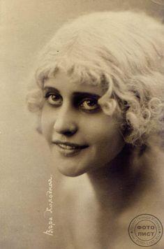 Russian silent movie stars: Vera Kholodnaya (1893-1919). Source: Leonid Mileev