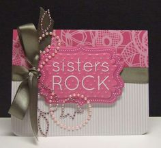 Homemade cards rock! Could be a fun sisterhood. Use for thank you cards, send to sisters abroad, parents, give to teachers that inspire....lots of uses!