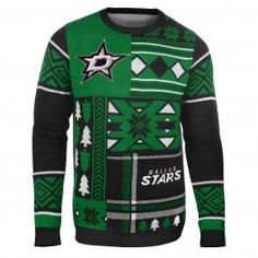 Dallas Stars Patches Ugly Sweater (Black)
