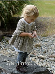 CROCHET PATTERNThe Rufflyn Cardigan 2/3 4/5 6/7 by Thevelvetacorn, $5.50