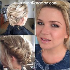 #bridesmaid #hair #updo and #makeup, no filter here. #braid looks great on blonde hair, I loved the style Megan chose! #wedding #DCWedding #NOVAWedding #MakeupAndHairByAlinaKaraman