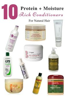 awesome 10 Protein and Moisture Rich Conditioners for Natural Hair - Natural Hair care -... Natural Hair Regimen, Natural Hair Care Tips, How To Grow Natural Hair, Curly Hair Tips, Curly Hair Care, Natural Hair Growth, Natural Hair Journey, Curly Hair Styles, Natural Hair Styles