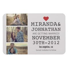 save the date magnets #wedding