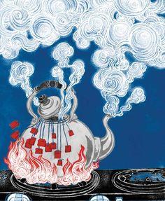 Yuko Shimizu illustrations tea party