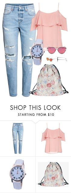 """""""Drawstring bag Summer travel backpack"""" by info-klompa ❤ liked on Polyvore featuring BB Dakota"""